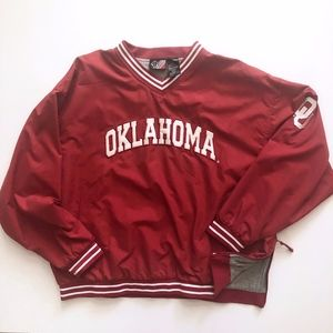New Oklahoma Sooners Men Pullover Jacket XL